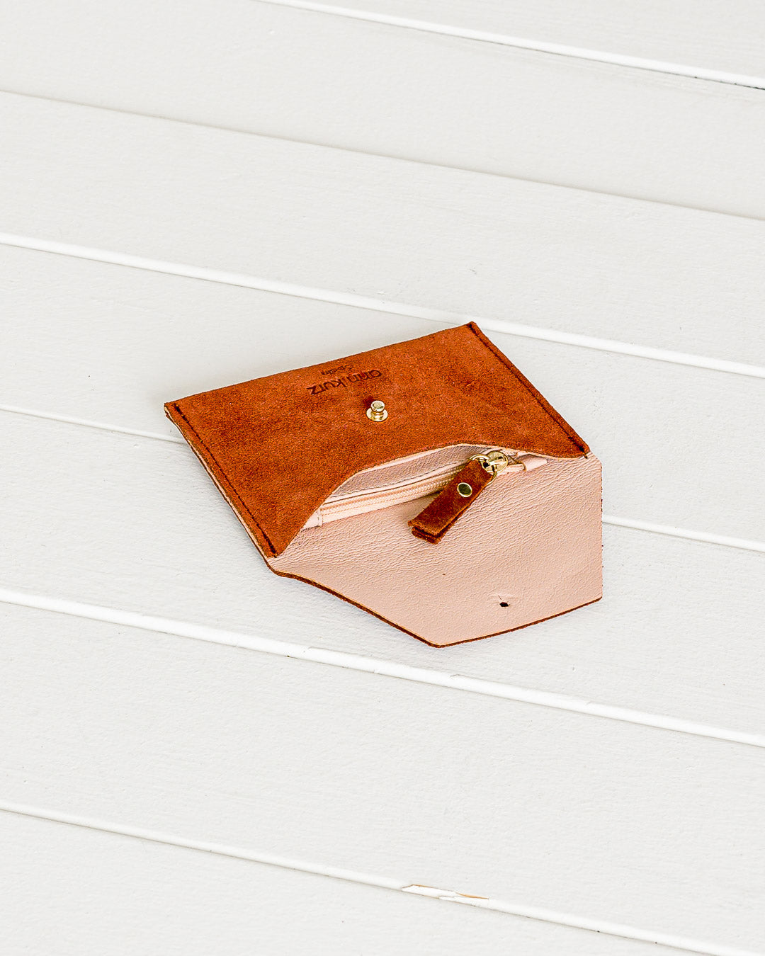 Ann Kurz // Purse Mini Mia Suede Dark Peach