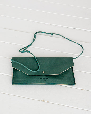 Ann Kurz // Purse Envelope Western Dark Mint