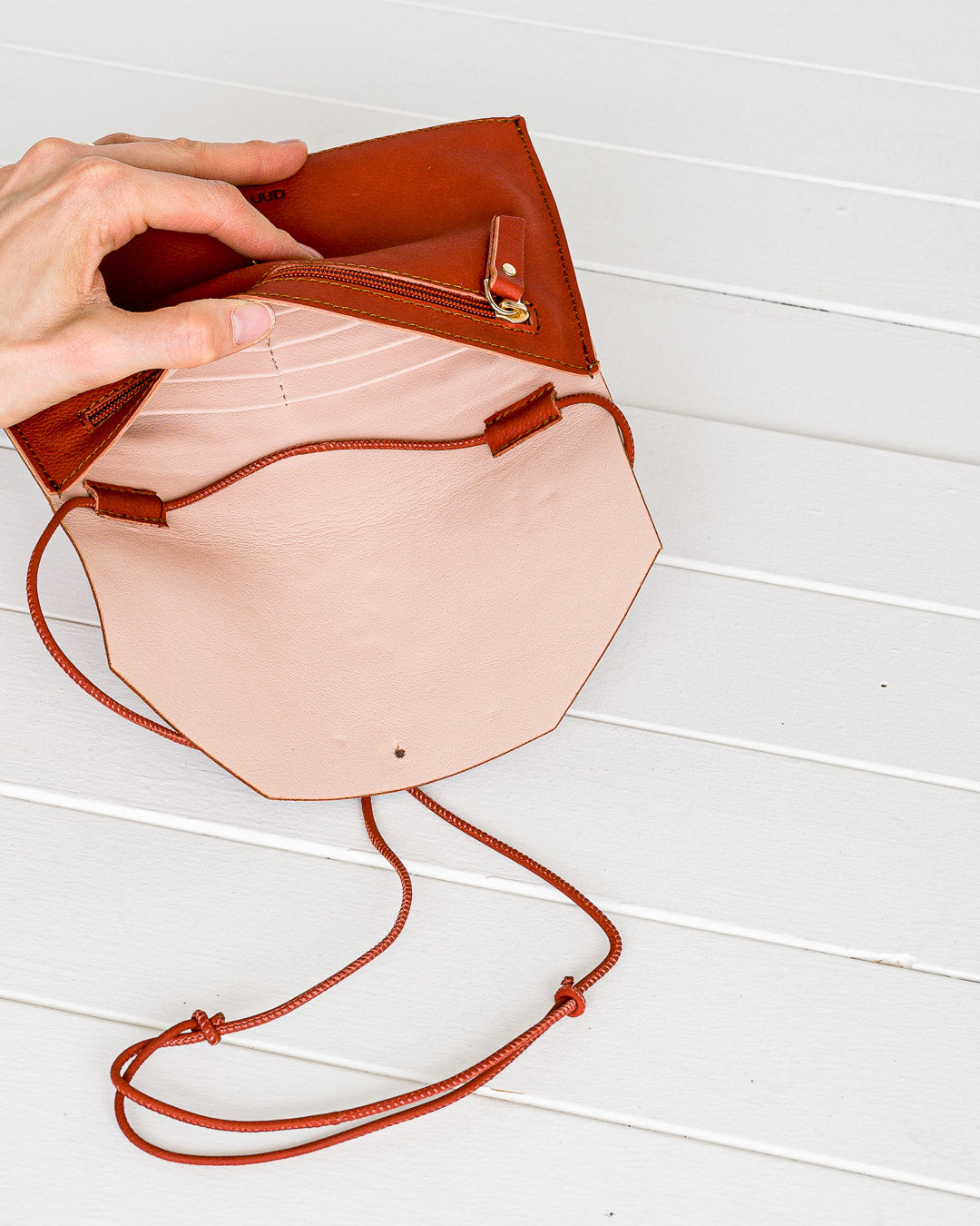 Ann Kurz // Purse Envelope Western Apple Red