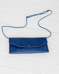Ann Kurz // Purse Envelope Western Klein Blue