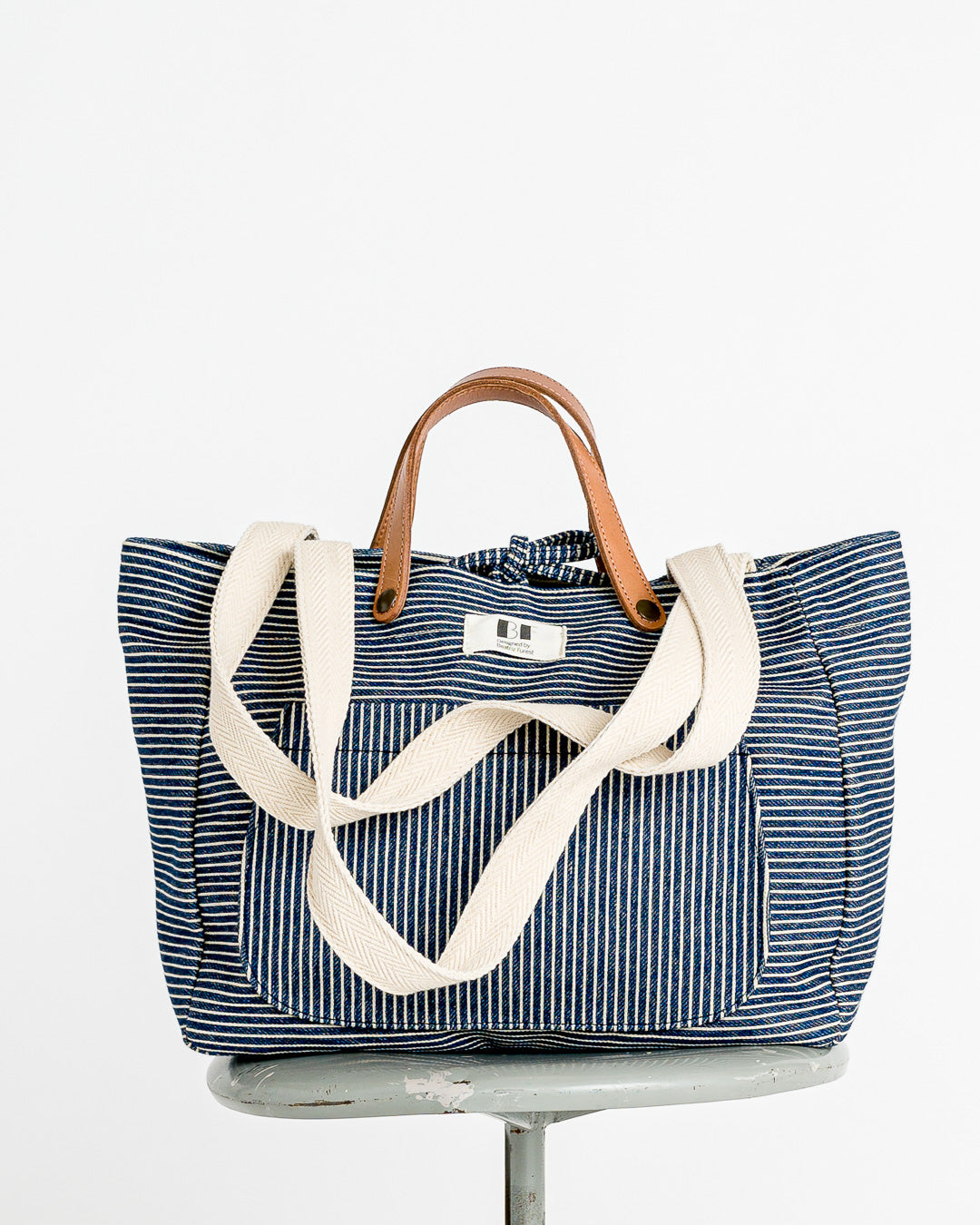 Beatriz Furest // Tasche Stripes Lona Navy Rayas