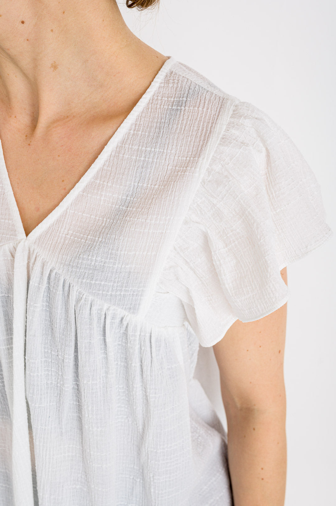 Bellerose // Bluse Hourra White