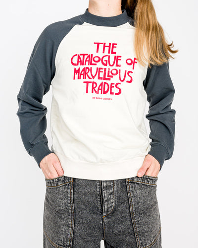 Bobo Choses // Sweatshirt Catalogue Of The Marvellous Trades Weiß/Navy