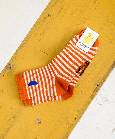 Bobo Choses // Socken Orange Stripes
