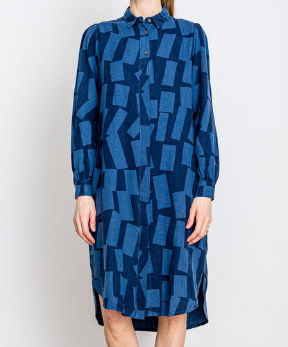 Bobo Choses // Kleid Shadow Long Shirt Blue
