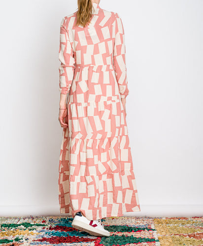 Bobo Choses // Kleid Long Shadow Printed Flared