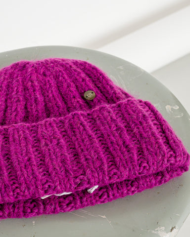 Casimier // Mütze Rib Beanie Purple