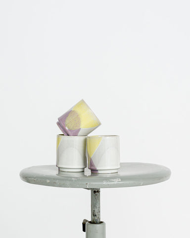 HKliving // gallery ceramics Becher yellow lilac