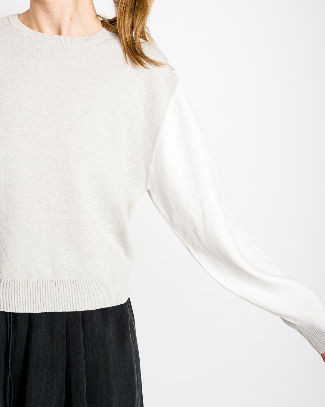 HUMANOID // Pullover Steffy Oatmeal Colourblock