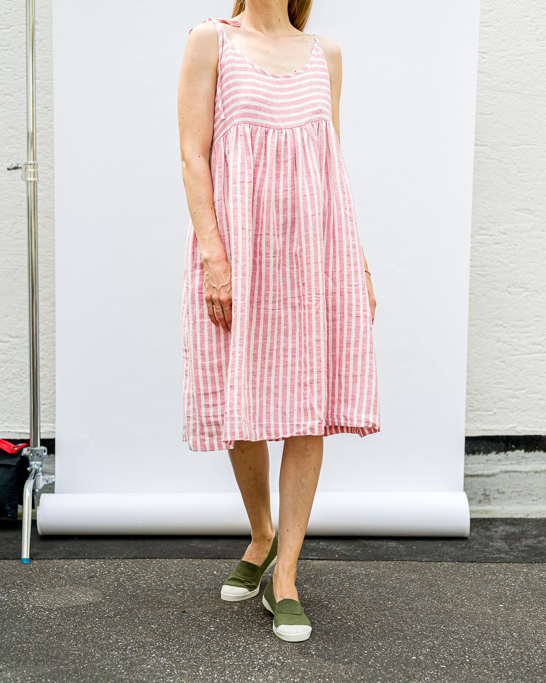 OFFON CLOTHING // Kleidchen Ruffled Stripes Pink White