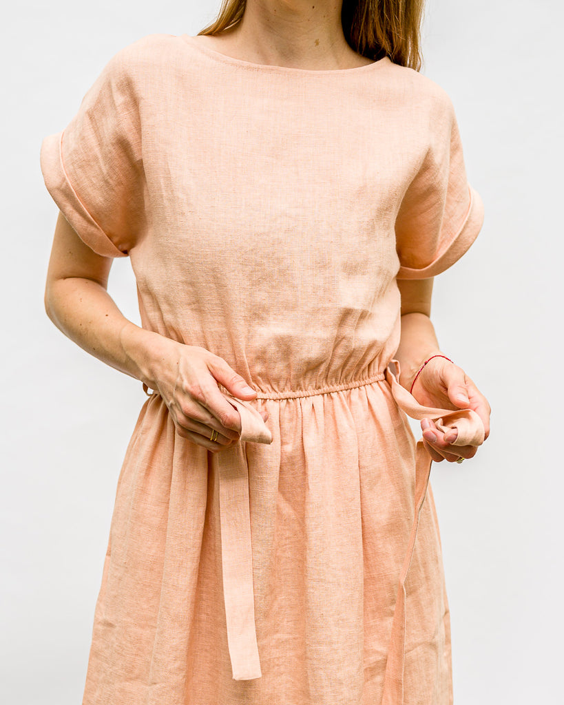 OFFON CLOTHING // Kleid Belt Linen Almost Apricot