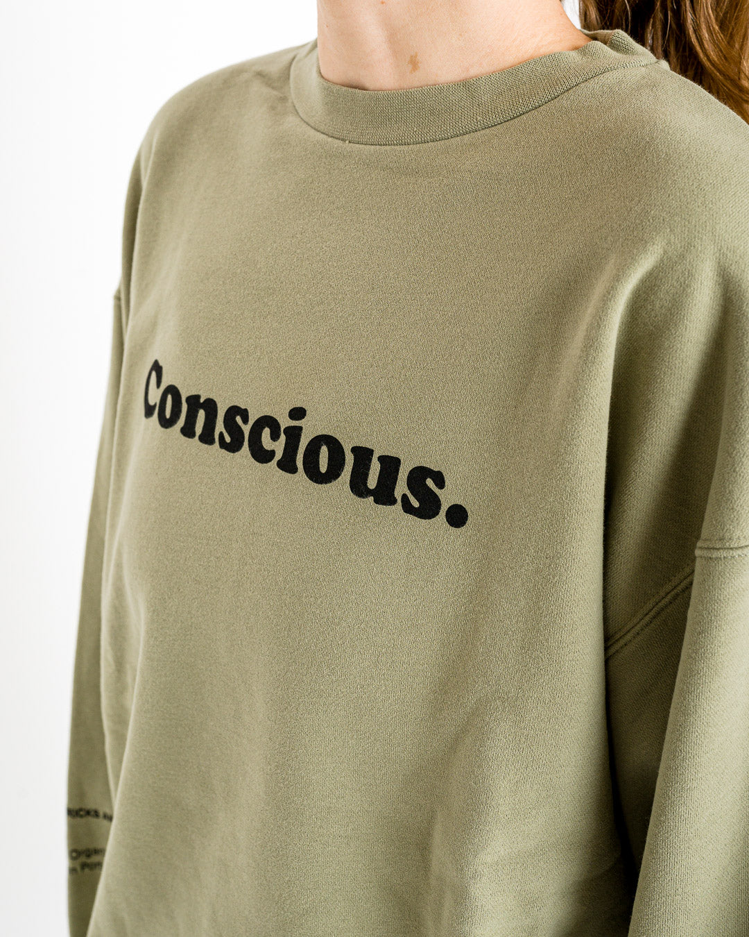 Embassy of Bricks and Logs // Sweater Conscious Crewneck Pale Olive