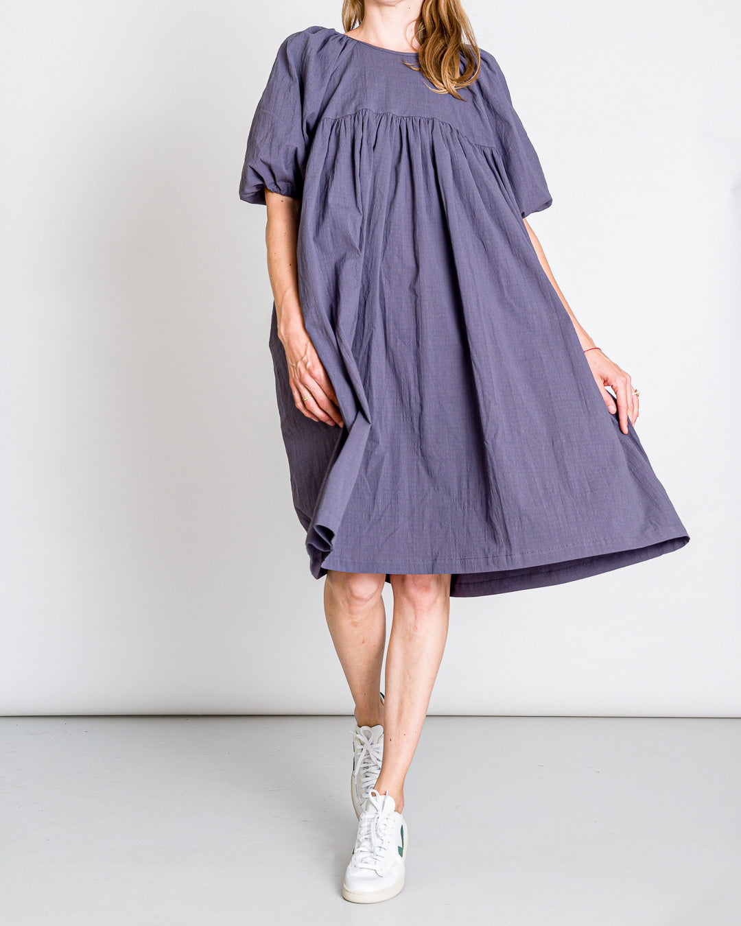 OFFON CLOTHING // Boho Kleid Charcoal Grey Cotton