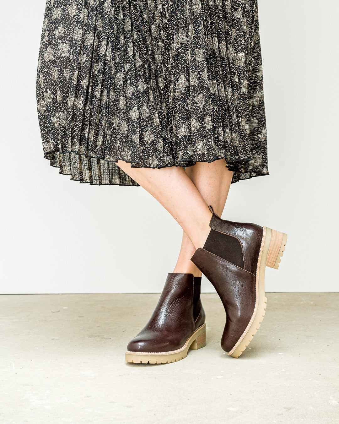 Sessun // Ankle Boots Cordoba Chocolat Leather