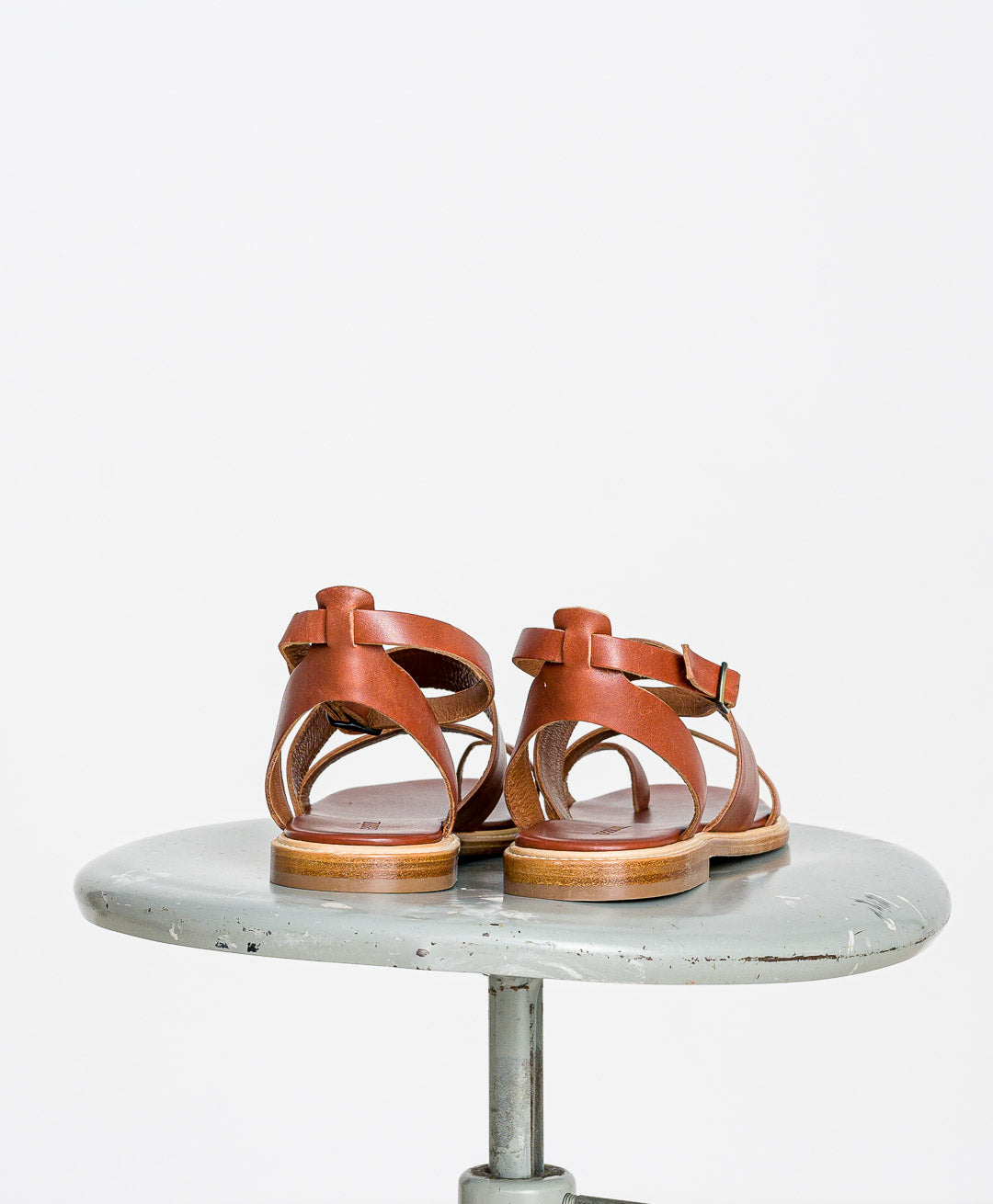 SESSUN // Sandalen Melisande Chesnut Leather