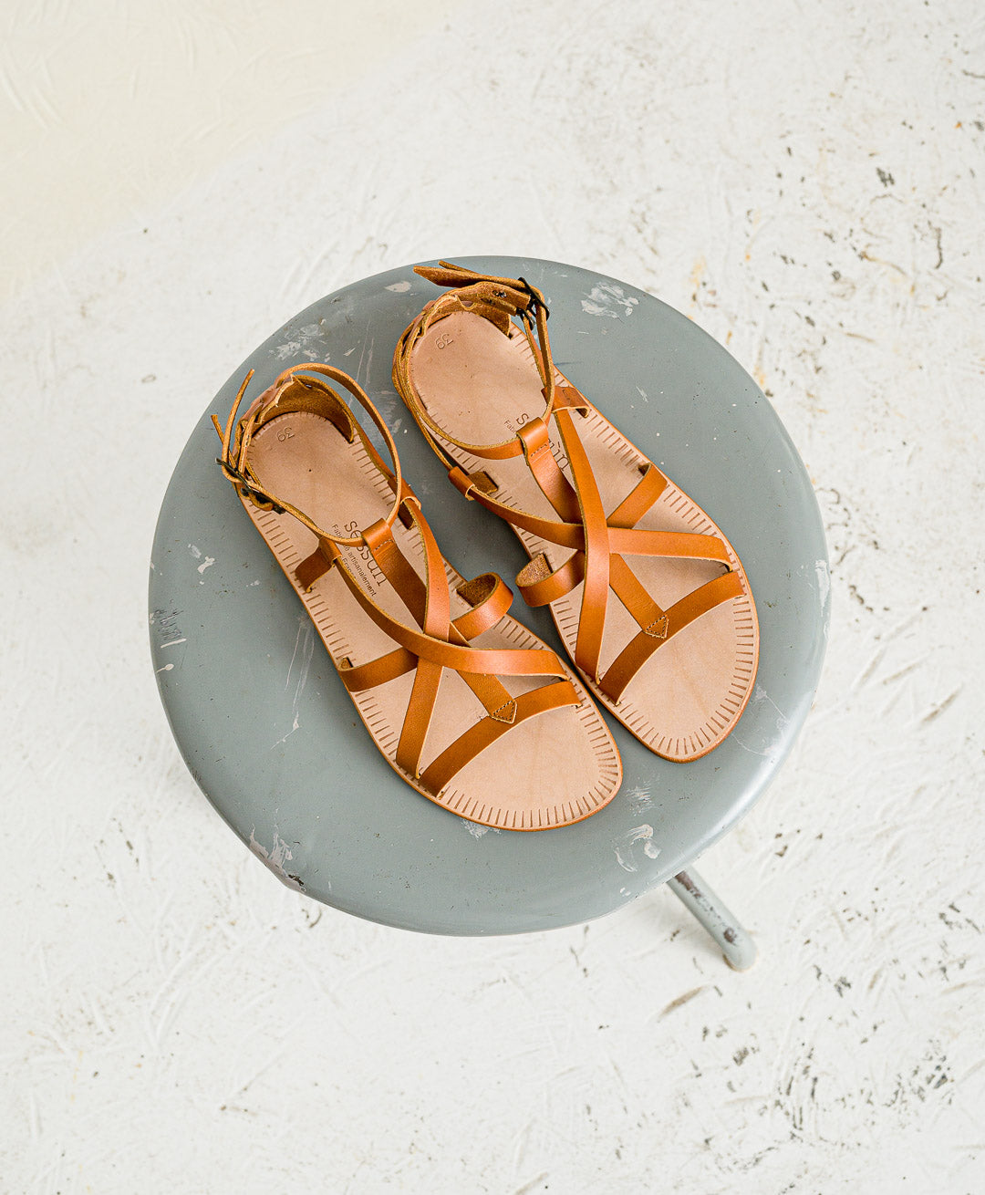 SESSUN // Sandalen Hemera Naturel