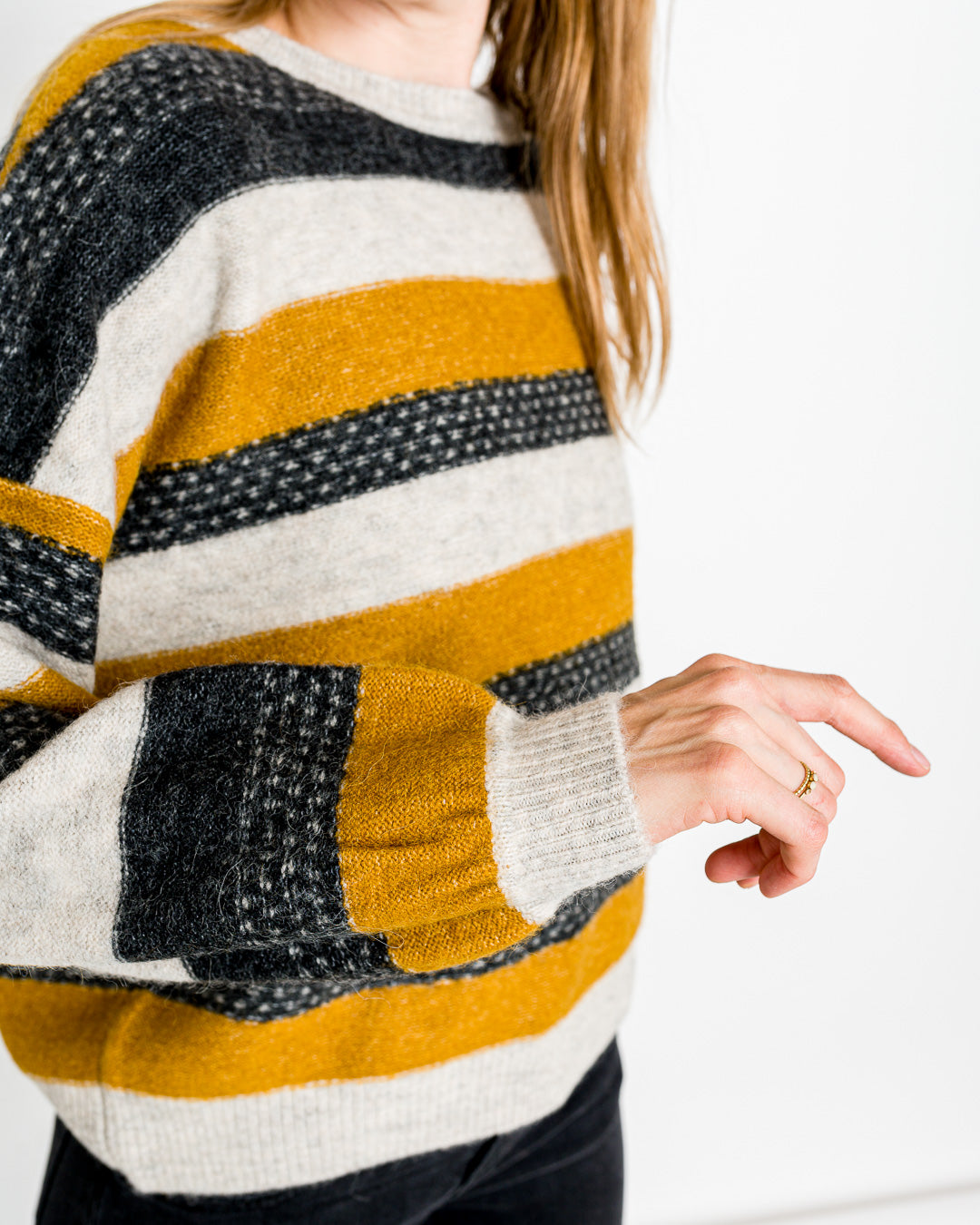 Sessun // Pullover Wooly Goldgrey