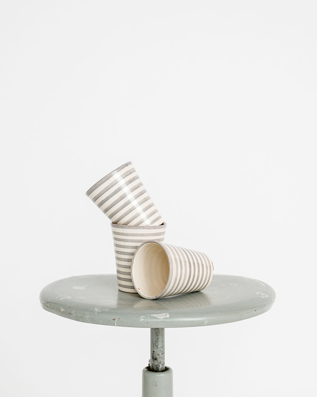 tine k home // Mug striped grey