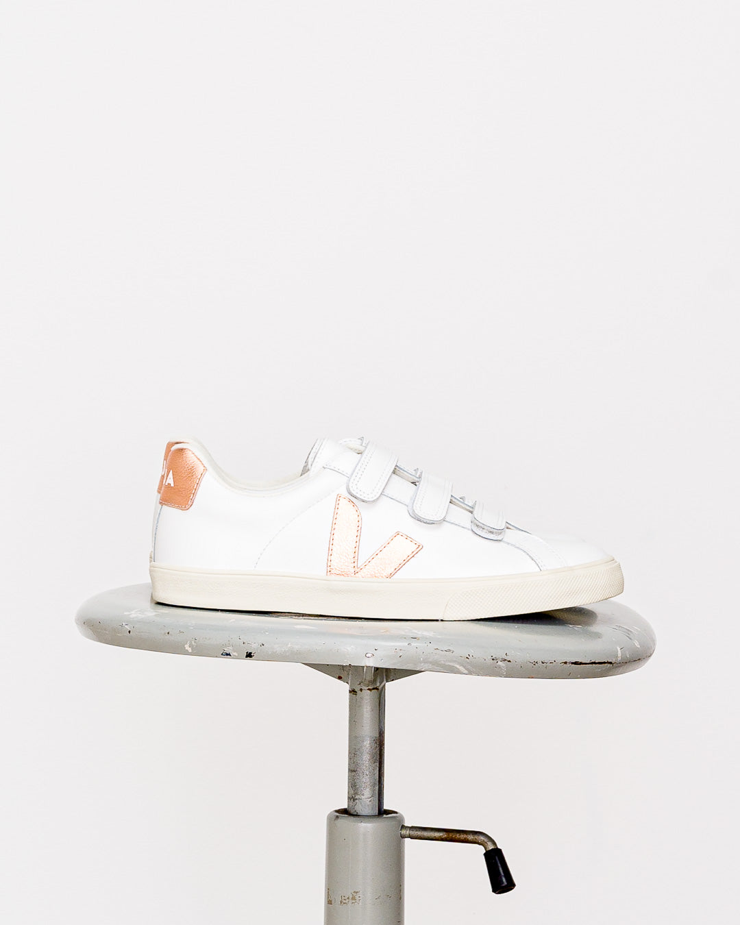 Veja  // Sneaker Esplar Leather 3-Lock Extra White Venus