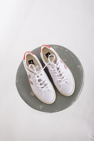 VEJA // Sneaker Esplar Se Canvas White Babe Orange-Fluo