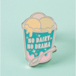 Punk Pins - No Dairy No Drama Enamel Pin