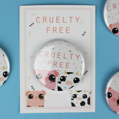 "The Vegan Pug - Badge ""Cruelty-Free"""