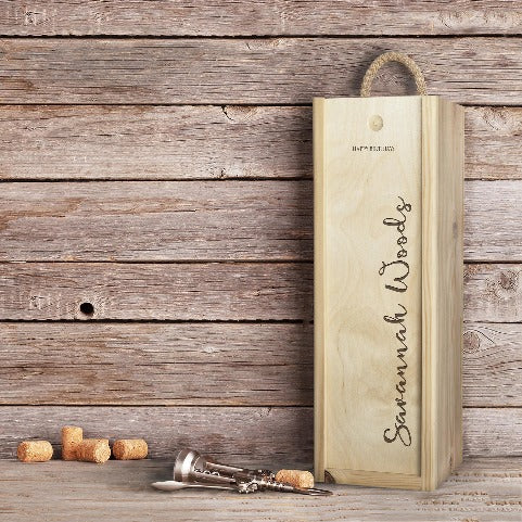 Award Winning Champagne in Personalised 'Birthday' Wooden Champagne Box. - Cambridge Deli