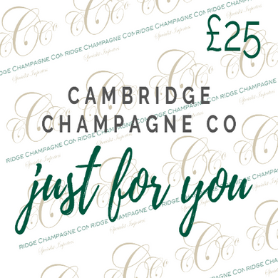 Champagne & Wine Gift Cards £25 - £100 - Cambridge Champagne Company Limited.