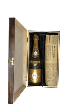Louis Roederer Cristal Vintage Champagne 2000 & Historical Newspaper Gift Set. - Cambridge Champagne Company Limited.