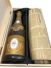 Load image into Gallery viewer, Louis Roederer Cristal Vintage Champagne 2000 & Historical Newspaper Gift Set. - Cambridge Deli