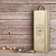 Load image into Gallery viewer, Award Winning Champagne in Personalised 'Birthday' Wooden Champagne Box. - Cambridge Deli