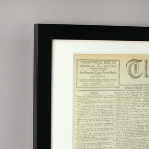 Original Historical Newspapers - Cambridge Champagne Company Limited.