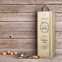 Load image into Gallery viewer, Award Winning Champagne in Personalised Wooden Champagne Box. Wedding | Special Occasion. - Cambridge Deli