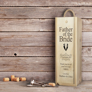 Award Winning Champagne in Personalised Wooden Champagne Box. Best Man / Bridesmaid / Father of the Bride etc. - Cambridge Champagne Company Limited.