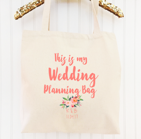 Gift for Bride to Be - Wedding Planning Bag