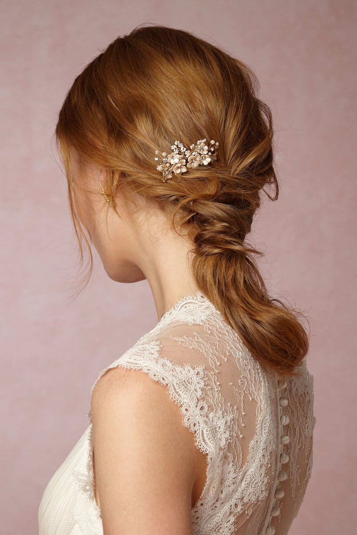 Gold Flower Bridal Hair Comb BHLDN Twigs and Honey