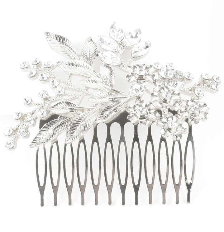 Charlotte Hair Comb - Floral Bridal Hair Comb in Gold