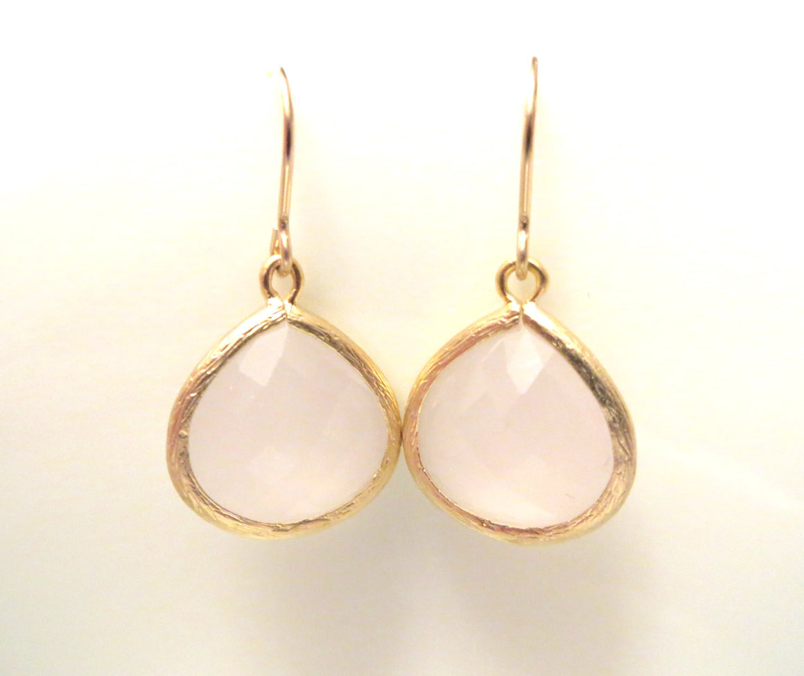 Bliss Blush Pink Gold Pink Earrings