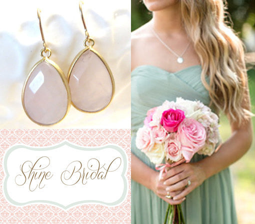 Waverly Blush Pink Gold Pink Earrings