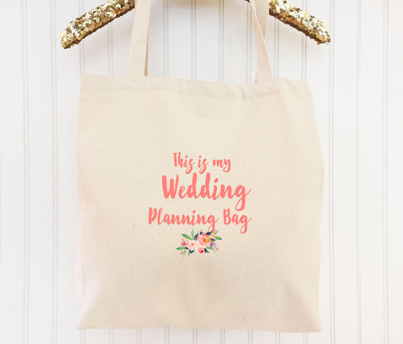 gift for bride to be custom tote bag engagement gift personalized