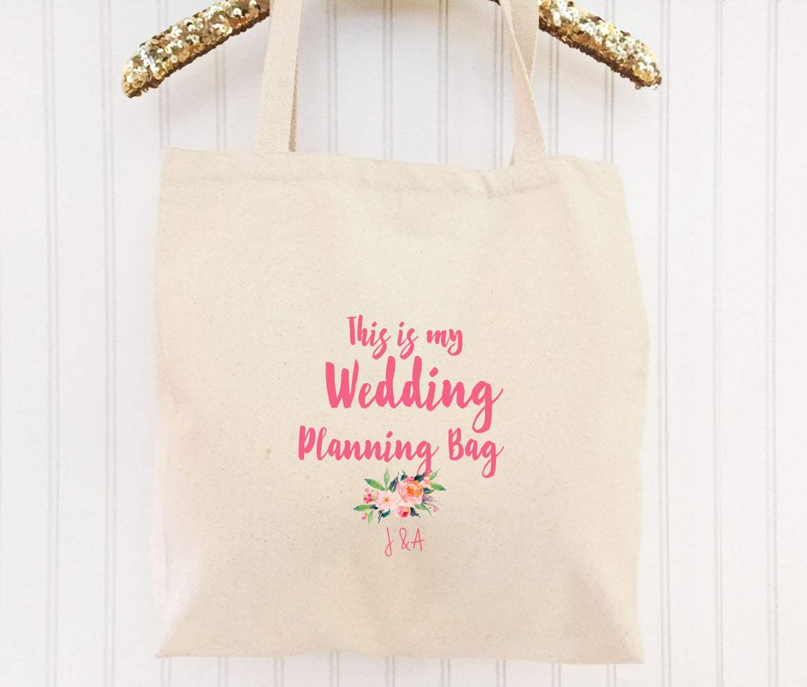 """This is My Wedding Planning Bag"" 