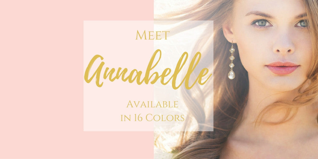 Meet Annabelle Gold Earrings in 16 Colors