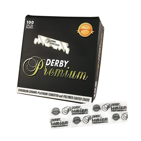 100x Derby Premium Saloon single edge Razor Blades - FineShave