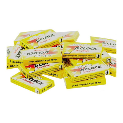 50x 7 o'clock Sharp Edge (yel) Razor Blades - FineShave