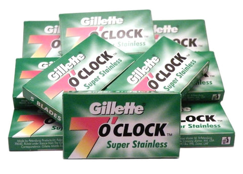50x 7 o'clock Super Stainless (gn) Blades - FineShave
