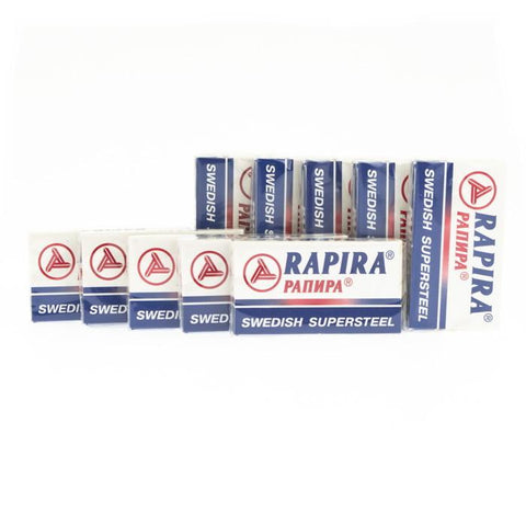 50x Rapira Swedish Supersteel Razor Blades - FineShave