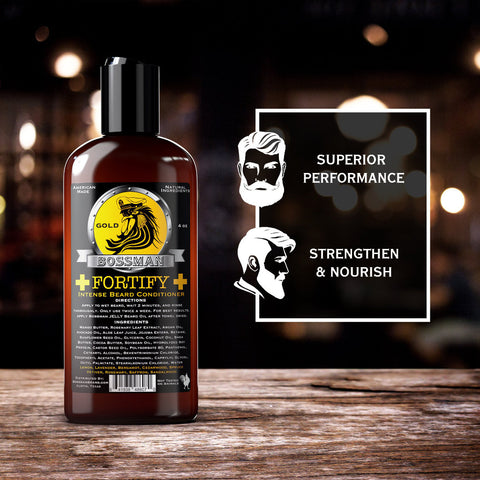 Bossman Fortify Intense Beard Conditioner Gold 118ml - FineShave