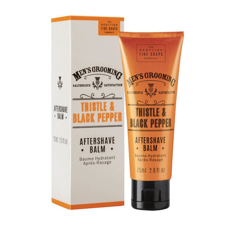 Aftershave Balm 75ml (Thistle & Black Pepper) by The Scottish Fine Soaps Company - FineShave