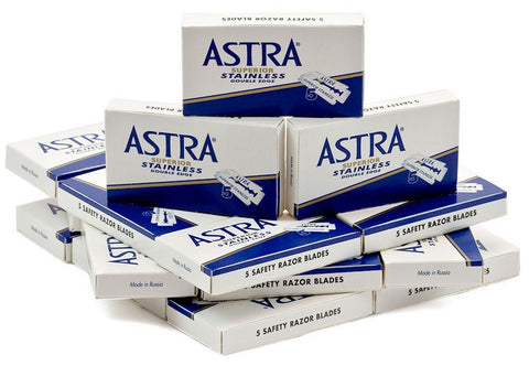 50x Astra Stainless Razor Blades - FineShave