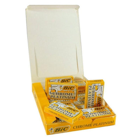 Bic Chrome Platinum DE Razor blades  100 Pack - FineShave